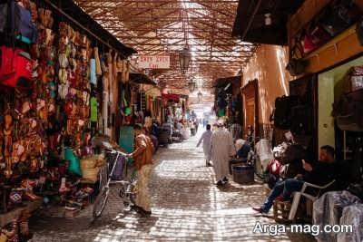 بازدید از بازارچه های قدیمی در مراکش