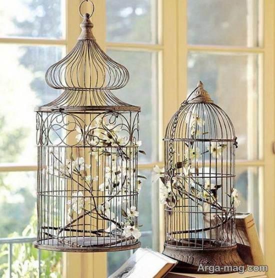 مجموعه ای زیبا و منحصر به فرد از تزیین قفس پرنده