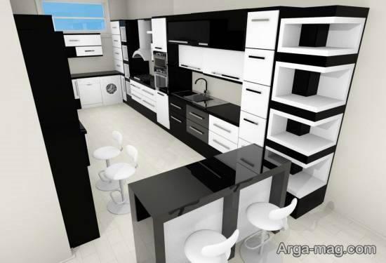 ایده های جالب و جذاب مدل کابینت سفید مشکی
