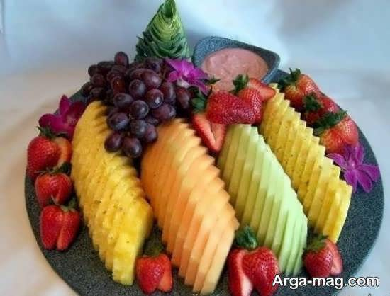 ایده هایی زیبا و جذاب از تزیین بشقاب میوه برای مهمانی