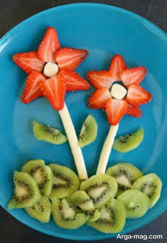 نمونه های جذاب و جالب از تزیینات بشقاب میوه