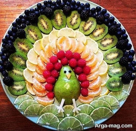 نمونه هایی بینظیر و ایده آل از تزیینات بشقاب میوه