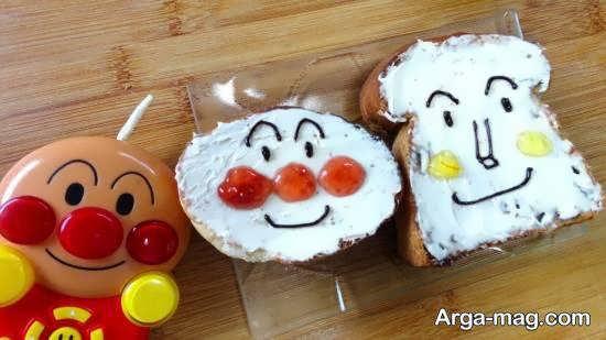 تزیینات نان تست با استفاده از خامه و ...