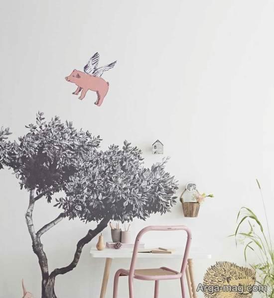 گالری زیبایی از ایده های کاغذ دیواری با طرح های غیر واقعی و کودکانه