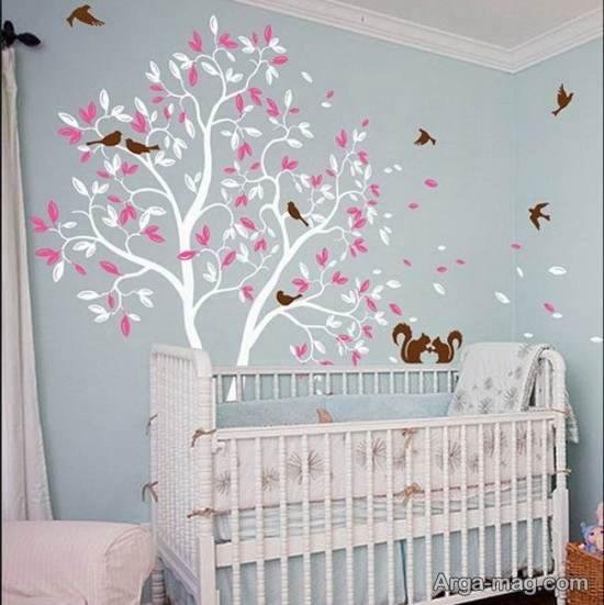 مدل هایی زیبا و لاکچری از کاغذ دیواری های خیالی و وهمی برای اتاق نوزاد