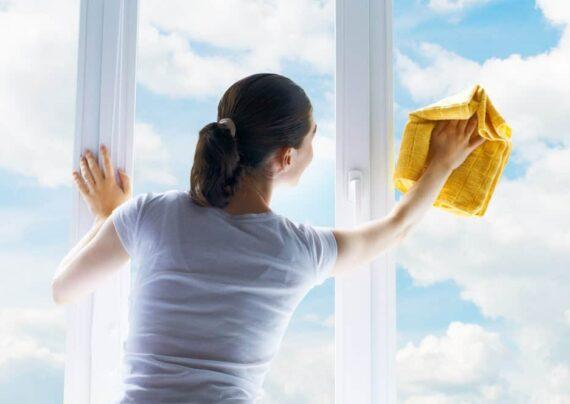 اصول تمیز کردن شیشه