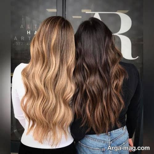 رنگ مو تیره و روشن