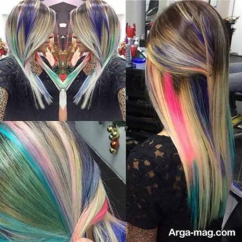 رنگ موی فانتزی 2021