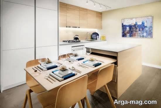 مجموعه ای زیبا از مدل های میز ناهارخوری مخفی برای منازل کوچک