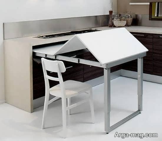 انواع مدل های زیبا و بینظیر میز ناهارخوری پنهان