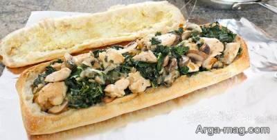 آموزش طرز پخت و آماده سازی ساندویچ مرغ و قارچ لذیذ