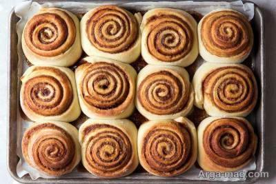 آموزش طرز تهیه نان رول دارچینی خوشمزه
