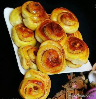طرز پخت نان رول دارچینی نوعی شیرینی لذیذ