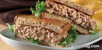آموزش طرز تهیه ساندویچ تن ماهی سالادی