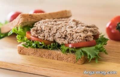 آموزش طرز تهیه ساندویچ تن ماهی رژیمی