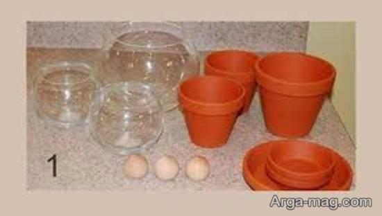 آموزش درست کردن شکلات خوری با گلدان و زیر گلدانی