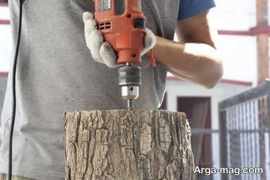 آموزش ساخت نورتاب چوبی