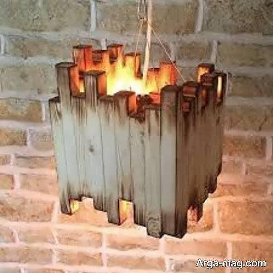 آموزش ساخت نورتاب چوبی زیبا و جدید