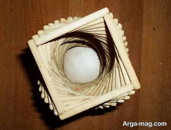 ساخت نورتاب چوبی به شکل مارپیچ