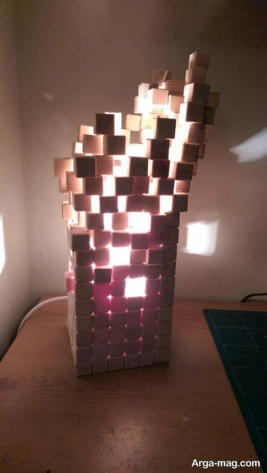 ساختن آباژور چوبی با 2 روش ساده و زیبا