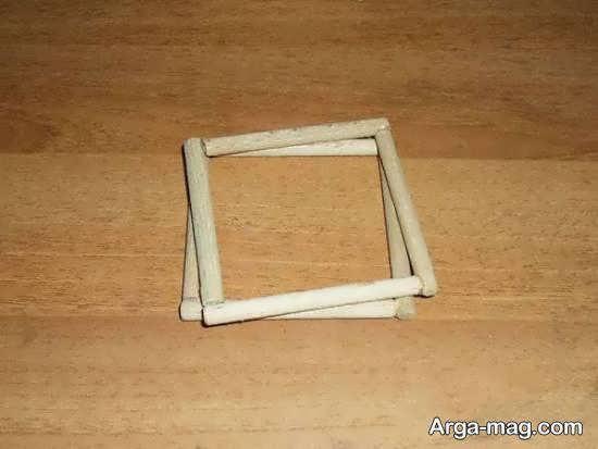 ساخت نورتاب چوبی با میله های چوبی