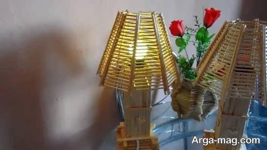 آموزش ساخت آباژور چوبی شیک