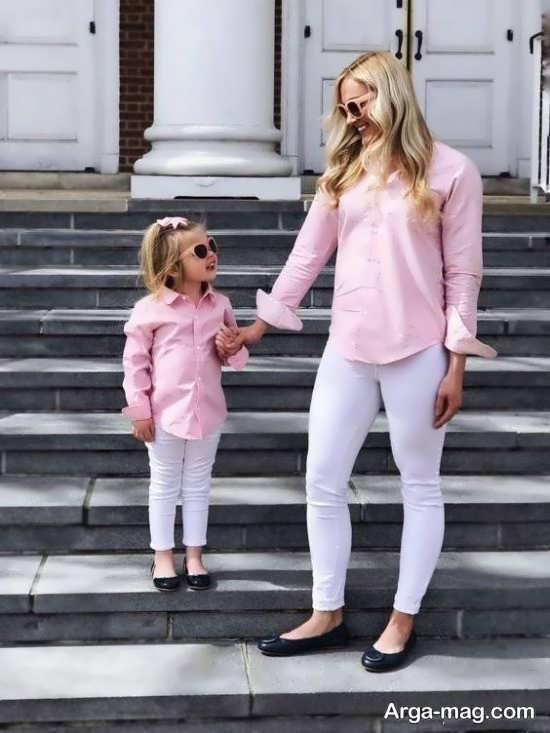 ژست دوست داشتنی مادر و دختر