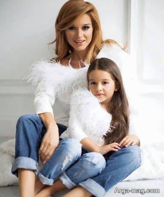فیگور عکس مادر و دختر شیک و جدید