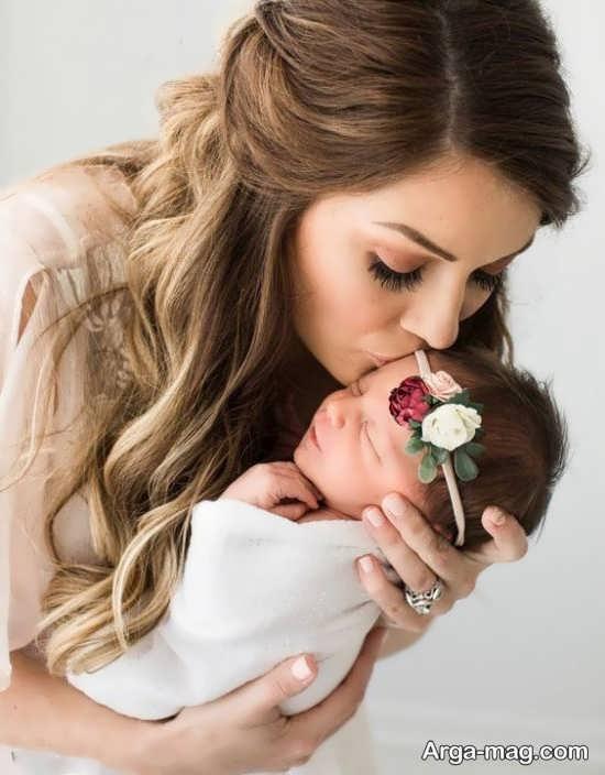 ژست عکس مادر و دختر با حالت متفاوت