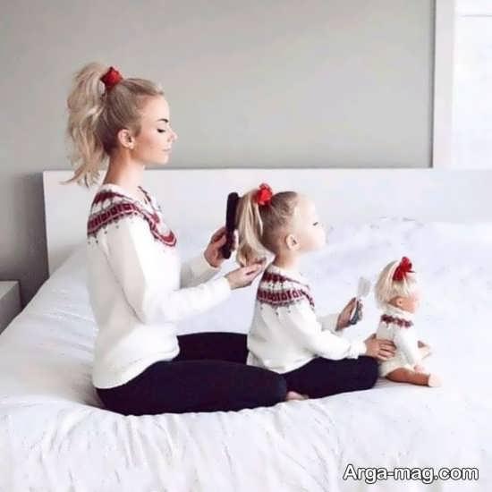 نمونه فیگور شگفت انگیز مادر و دختر