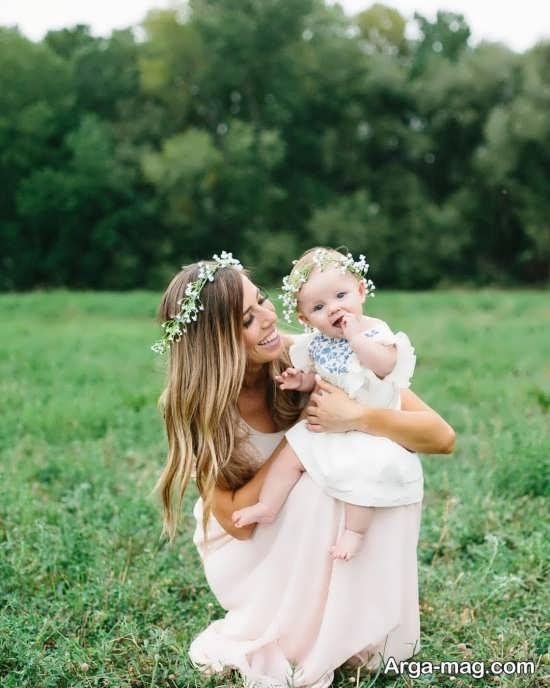 فیگور عکس دیدنی و زیبا مادر و دختر