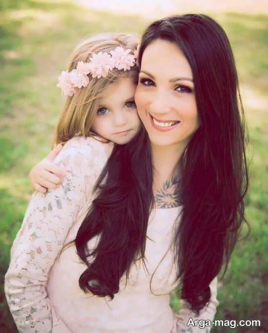 انواع جالب و زیبا ژست عکس مادر و دختر