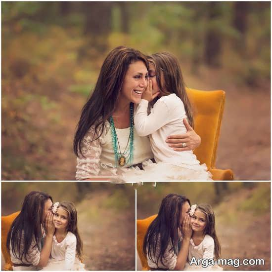 انواع متنوع ژست عکس مادر و دختر
