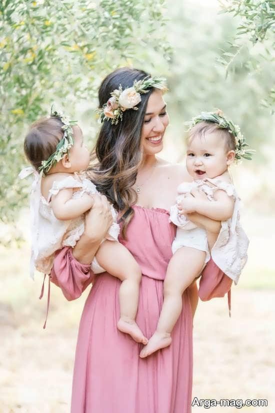 انواع مختلف ژست عکس مادر و دختر