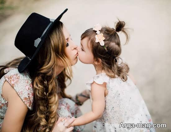 ژست احساسی مادر و دختر