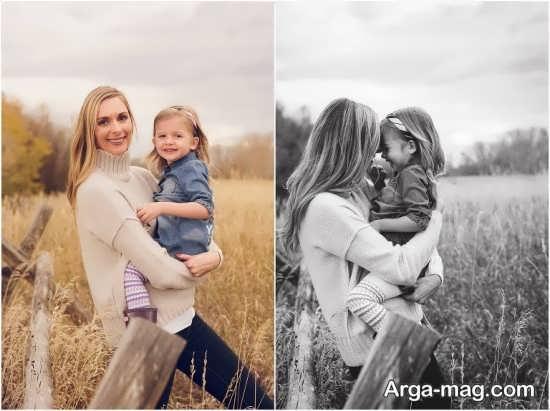 انواع زیبا ژست عکس مادر و دختر