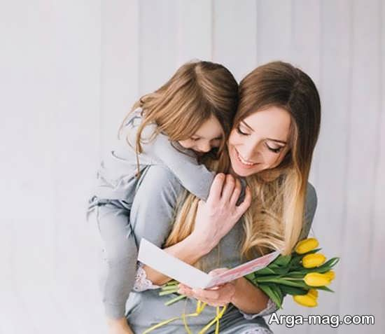 انواع ژست عکس مادر و دختر