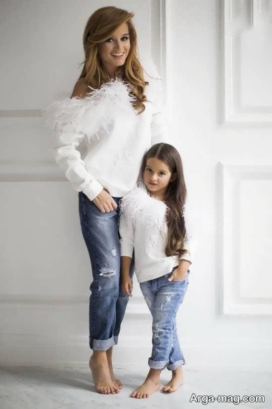 ژست شیک و جدید مادر و دختر