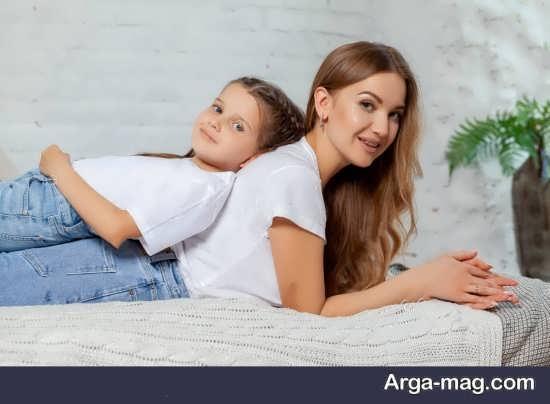 انواع مختلف و جدید فیگور عکس مادر و دختر