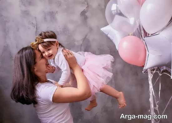 فیگور جالب مادر و دختر برای تولد