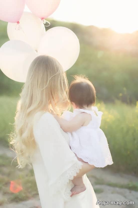 ژست عکس مادر و دختر زیبا و جدید