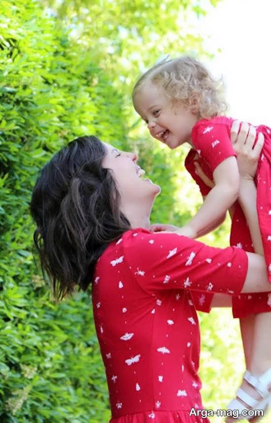 مجموعه ژست عکس مادر و دختر