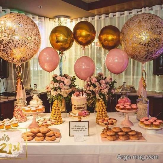 مجموعه ای شیک و لاکچری از تزیینات مهمانی تولد مادر