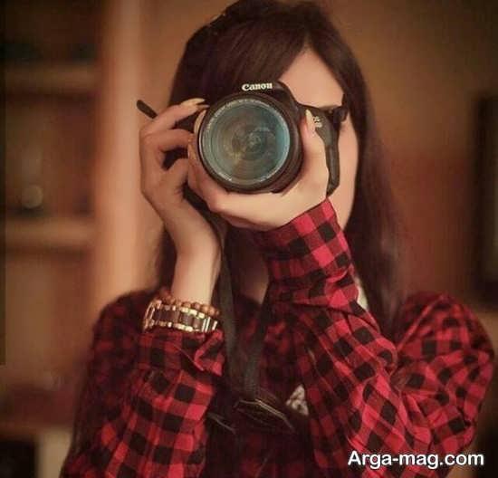 فیگور عکس با دوربین عکاسی جالب و جذاب