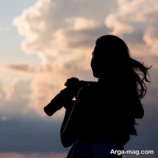 فیگور عکس زیبا دخترانه با دوربین
