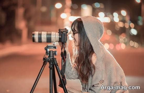 مجموعه ژست عکس با دوربین