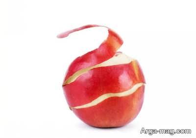 خواص مختلف پوست سیب