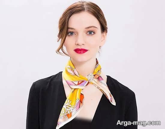 آموزش دوخت دستمال گردن با نمونه هایی زیبا