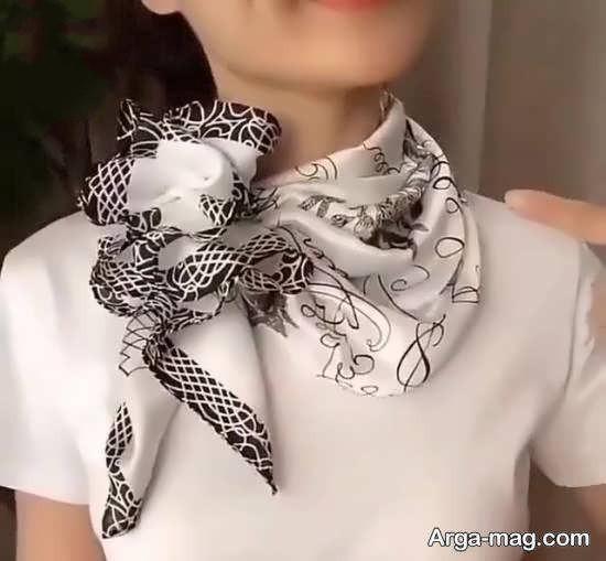 آموزش دوختن دستمال گردن یکی از بخش های تزیینی پوشش