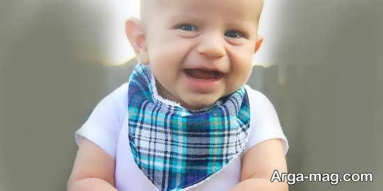 آموزش دوخت دستمال گردن شیک و زیبا برای نوزاد